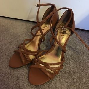 Ralph Lauren Brown Strapy Heels